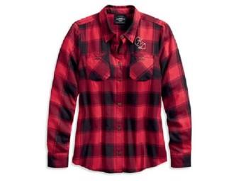 """Damen-Bluse """"World famous"""" red plaid 96168-20VW"""