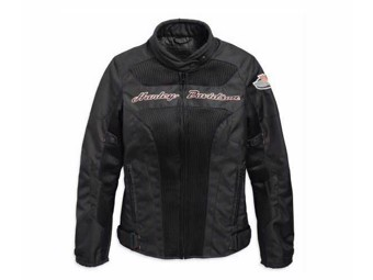 """Harley Davidson Damen ECE-Motorradjacke 97158-19EW """"Mecan Springs Mesh"""" Schwarz"""
