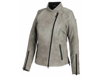 """Ladies Leather Jacket """"Citified"""" 98074-19EW Grey EN-certified"""