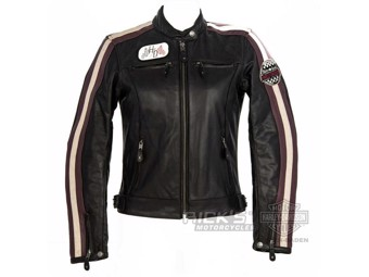 Women's Motorcycle Leather Jacket, CE-approved, 97005-18EW