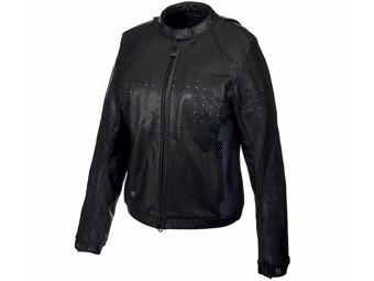 "Women's Motorcycle jacket ""Nashua Leather Mesh"" 97046-19EW Black"