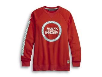 Damen RACE SLEEVE STRIPE Sweatshirt 96365-20VW Langarm Crewneck