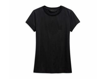 "Women's ""Studded Logo"" 99127-20VW T-Shirt Black Rivets Tee"