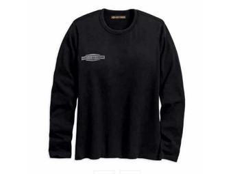 "Harley Davidson Women's Sweatshirt ""Flocked Logo"" 96294-18VW black Longsleeve"