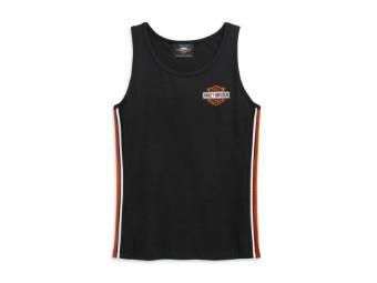 """Harley Davidson Damen Tanktop """"SIDE STRIPE"""" 99110-20VW Schwarz Top T-Shirt"""