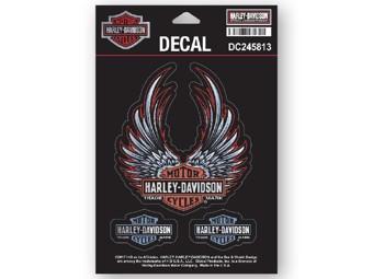 3-piece Sticker Set DC245813 Wings Heart Red Black