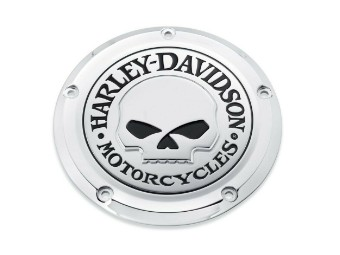 Harley Davidson Derby Cover Willie G Skull 25700469 Clutch Cover, chrome