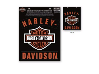 Window Sticker 2-sided print DW28366 Bar & Shield