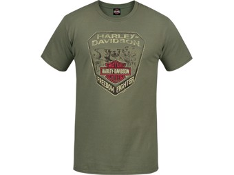 """Free Flight"" Herren Dealer T-Shirt R003531 olive Baumwoll Tee"