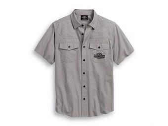 Leisure Shirt -WOVEN GREY- short sleeve 99013-20VM