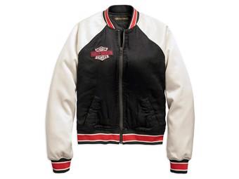 Leisure Jacket Blouson, black/white 97530-19VW Women's