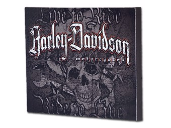 "Harley-Davidson Bild Canvasprint auf Rahmen ""SKULL"" ca. 60 x 45 cm HDL-15702"