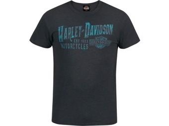 """""""H-D BRAND"""" Dealer T-Shirt R003536 Black Cotton Tee"""
