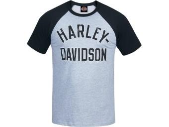 """""""H-D Start"""" Dealer T-Shirt R003530 Grau Raglan Tee Baumwolle"""
