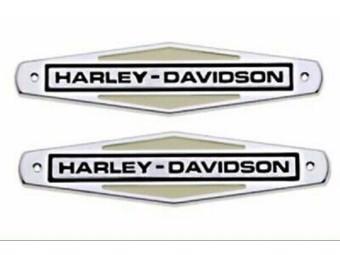 "Harley-Davidson H-D TANK EMBLEM ""HARLEY-DAVIDSON"" 61771-66TB SET 2er-Set"