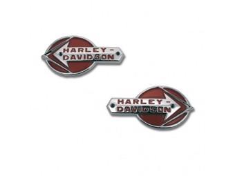 """H-D TANK EMBLEM """"HARLEY-DAVIDSON"""" 61775-59T SET 2er-Set"""