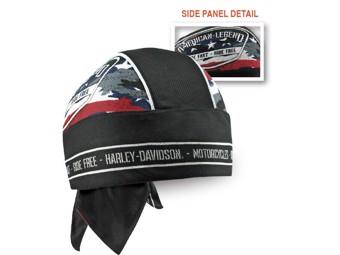 """Harley-Davidson Headwrap """"PATRIOTIC"""" Cap Polyester HW29084"""