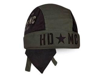 "Harley-Davidson Headwrap ""Resolute Black & Olive"" Hat, Cap HW34394"