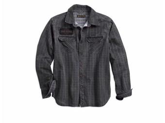 "Hemd Shirt ""Canvas Patch"" 96264-18VM Slim Fit Anthrazit Kariert"