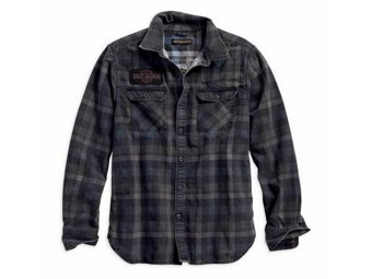 """Hemd Shirt """"Tinted Printed Plaid"""" 96262-18VM Slim Fit Grau Karo"""