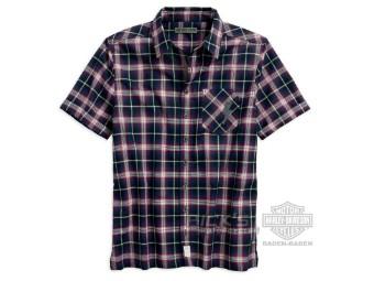 Herren Casual Shirt 96238-18VM Blue Red