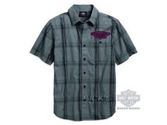 Men's Shirt 96768-19VM Skull Grey
