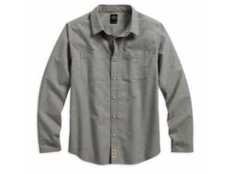 """Herren Hemd """"Black Label"""" Langarm 99025-17VM Shirt gewebt grau"""