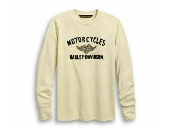 """Herren Langarm Shirt """"Winged Pistons"""" 96668-19VM Longsleeve"""