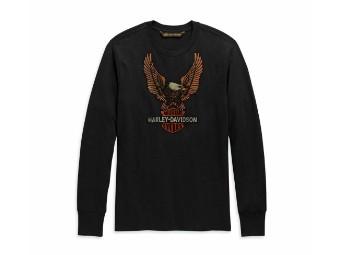 """Men's Longsleeve """"Vintage Eagle"""" 99098-20VH Shirt black"""