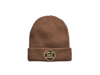 "Men's Winter Cap ""HAT-LONG LIVE"" brown *97797-19VM*"