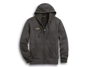 "Men's Zip Hoodie ""RACING CIRCLE"" 96287-20VM Grey Hood S - 5XL"