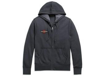 Men's Zip Hoodie -Vintage Eagle- 99099-20VH Black Hood