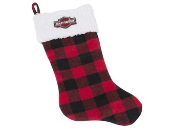 """""""HOLIDAY STOCKING RED PLAID"""" Weihnachtsstrumpf rot HDX-99151"""