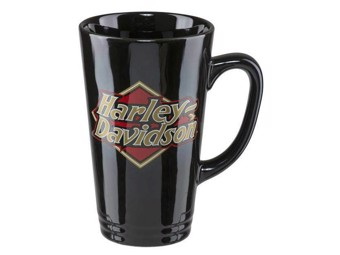 Kaffeebecher schwarz HDX-98608 Schriftzug