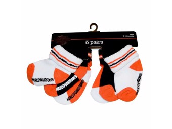 Harley-Davidson Kids Socks 6-12 Months Set of 3 SGI-S9ABI63HD-6