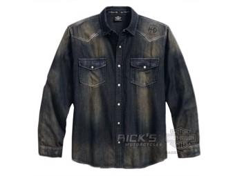 Long Sleeve Leisure Shirt Garage,extra long *96409-18VT/000M* Size. M
