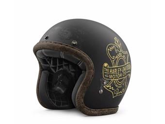 "Harley Davidson Motorradhelm ""Bootlegger's Pass"" 98236-19EX Jethelm schwarz"