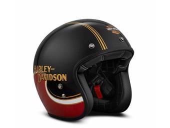 """Harley Davidson Motorradhelm """"The Shovel"""" 98277-19EX Jethelm schwarz-rot"""