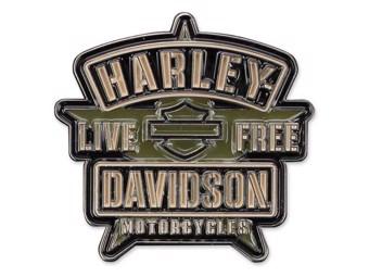 """Harley-Davidson Pin """"Resolute"""" Anstecker, H-D-Logo auf Stern P343942"""