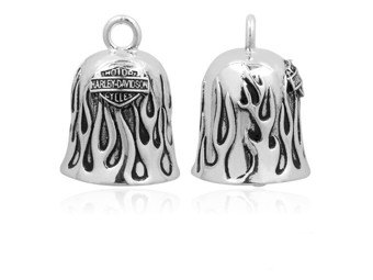 """Harley-Davidson """"RIDE BELL SILVER FLAMES"""" HRB031"""