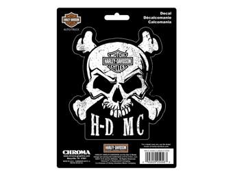Skull Sticker -HD-Motorcycles- CG-25056 Bar & Shield
