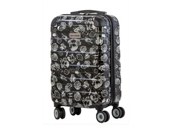 """Harley-Davidson Trolley """"Carry on black tattoo"""" Suitcase A99922 black Skull"""