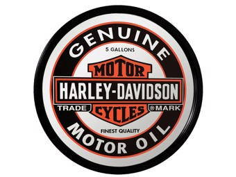 Genuine Oil Can Mirror Retro Look HDL-15216 Bar&Shield