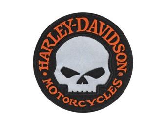 "Harley-Davidson ""WILLI G. Skull Reflektiv"" Aufnäher Patch Emblem EM1029642"