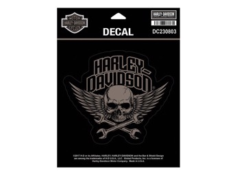 """WRENCHED SKULL"" Sticker/Decal *DC230803*"