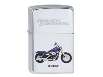 """Harley-Davidson by Zippo Feuerzeug """"STREET BOB"""" Sturmfeuerzeug ZIPPO 2.002.351"""