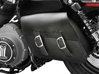 Harley SCHWINGENTASCHE Satteltasche einseitig, XL ab 2004 schwarz 90201326A