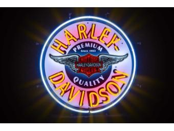 Harley-Davidson -Winged Bar & Shield Neon Sign- 220 V HDL-15410