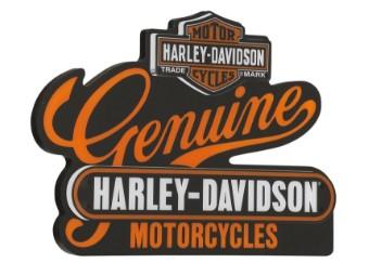 "Harley-Davidson LED-Schild ""Genuine Motorcycles"" 220V Leuchtschild HDL-15412"