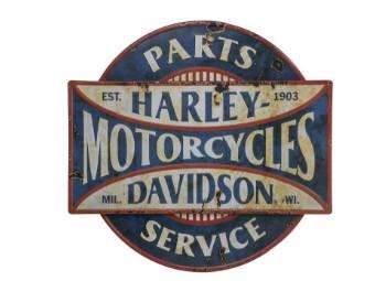 Harley-Davidson Metallschild Parts & Service in 3D Optik